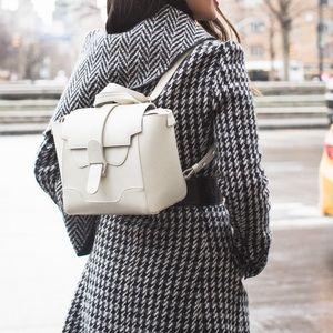 Senreve Mini White Maestra Leather Bag